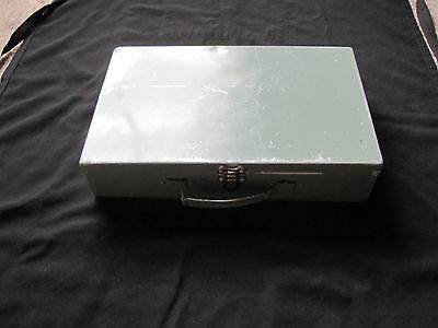 Old Green Tin Case With handle