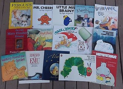 Bulk Pack 15 Children's Picture Books .mem Fox Pamella Allen/eric Carle