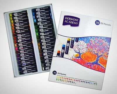 Derwent Academy Oil Pastels Set Of 36 Soft Coloured Pastels Writing Drawing Art