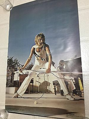 Vtg Original 1977 Rod Stewart Poster by Rainbow Photography RARE One Stop #882