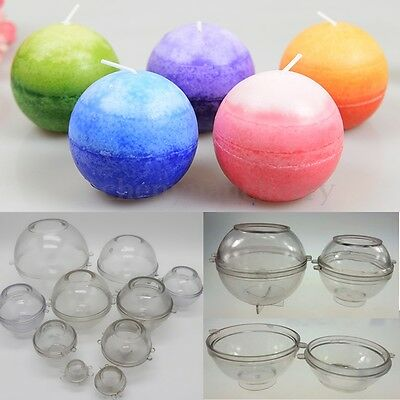 10cm Ball Shaped Plastic Candle Mold Soap Molds DIY Tools Craft Clay Chocolate