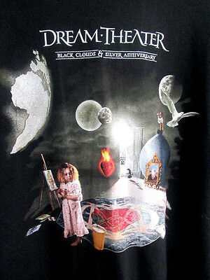 DREAM THEATER..BLACK CLOUDS & SILVER 25TH ANNIVERSARY..T-SHIRT..NEW..sz 2X