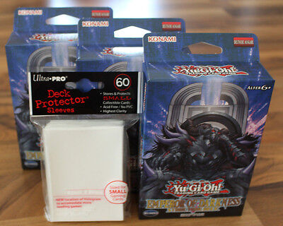 Yu-Gi-Oh! 3x Emperor of Darkness Structure Deck  + 60 Whit Ultra Pro Hüllen