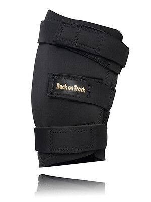 Black Back On Track Pain Relief Hock Boots For Horses (Pair)