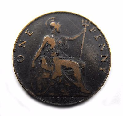 King Edward VII 1903 PENNY in good circulated condition with nice head