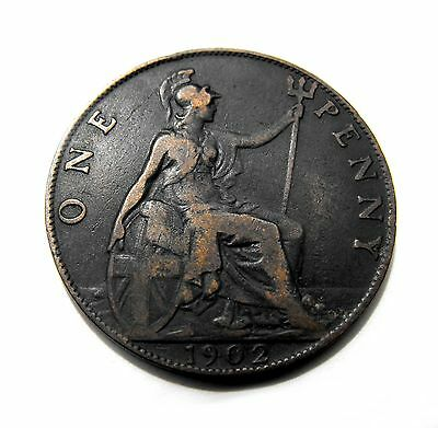 King Edward VII 1902 PENNY in good circulated condition