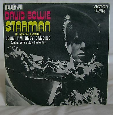 David Bowie - Starman - RCA Records - Spanish Release - Picture Sleeve 7 Inch
