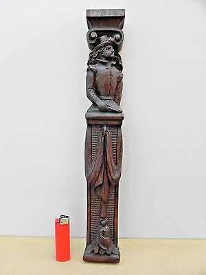 Beautiful old carved man  (furniture ornament ?)