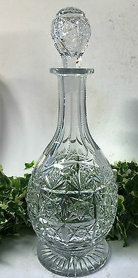 Stunning Vintage Thomas Webb Signed Lead Crystal Cut Wellington Wine Decanter