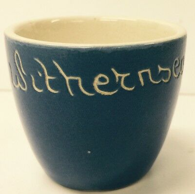 Beautiful Vintage Devon Blue Ware Blue & White 'withernsea' Egg Cup