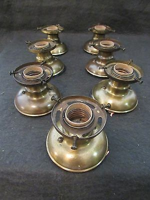 Set of 7 Antique Box Light Fixtures by Paiste c. 1910 - Professionally Restored