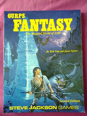 Gurps Fantasy The Magical World of Yrth 1990 Rare Roleplaying Supplement RPG