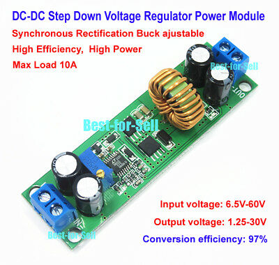 10A DC-DC 9V-60V 12V 24V 36V 48V to 3.3V 5V 12V 24V Step Down Car Power Charger