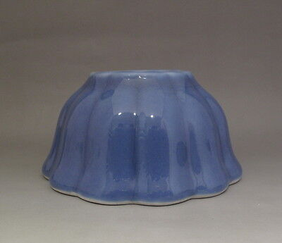 Beautiful Chinese Antique Light Blue Glaze Porcelain Brush Washer