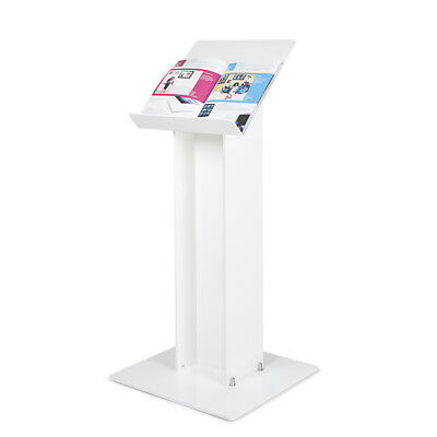 Floor Standing White Lectern | School Lectern | Church Pulpit | Book Stand - UK
