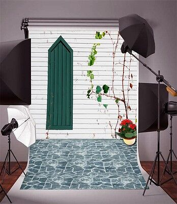 Vinyl 5x7ft Photography Backdrop Modern Wood Wall Studio Background Stage Props