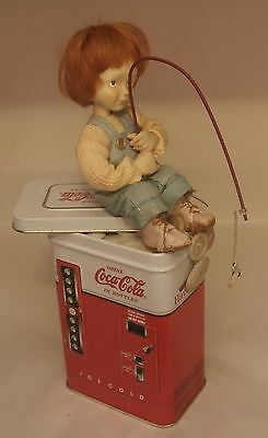 """Coca-Cola Hal Payne's """"Ol Fishing Hole"""" Button Box Kids - 1999 First Edition"""