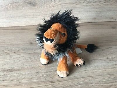 Official Disney Store Lion King Scar Plush Beanie Toy - Very RARE!