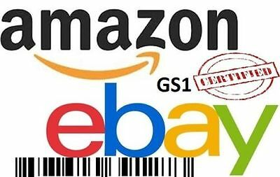 20 UPC EAN Codes Certified Numbers Barcodes Amazon Ebay Lifetime Guarantee