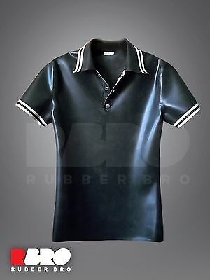 Men's latex rubber polo shirt 0.5 mm size S/M/L/ made to measures
