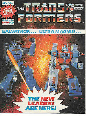 Transformers #79 (Marvel UK 1986, full colour throughout, 28 pages) high grade