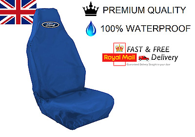 Ford Escort Car Seat Cover Protector 100% Waterproof / Heavy Duty /  Blue