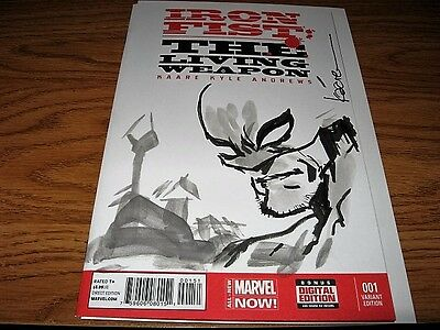 IRON FIST THE LIVING WEAPON #1 KAARE ANDREWS SKETCH LUKE CAGE Variant Defenders