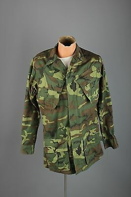 Vtg Men's US Army Vietnam War 1968 ERDL Ripstop Camo Jacket sz S Long 60s #3157
