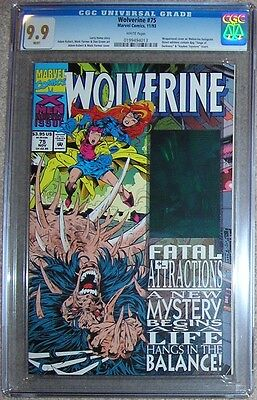 Wolverine (1988) 75 CGC 9.9 MINT 1 of 3 top Fatal Attractions X-Men 25 aftermath