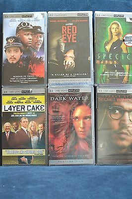 New - UMD Video For PSP Lot of 6 Dark Water Red Eye L4yer Cake Glory Species
