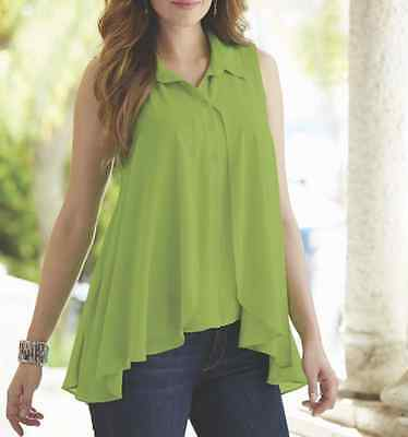 5853e7910818a MIDNIGHT VELVET ARISTA Top Blouse Green Shirt NEW size Large ...