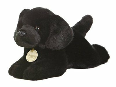 Aurora Miyoni 11 inch Black Lab Plush Dog