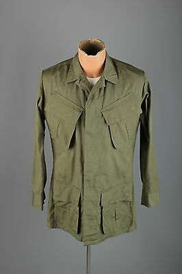 Vtg Men's NOS 1969 US Army Vietnam War Ripstop Fatigue Jacket sz XS #3163 Shirt