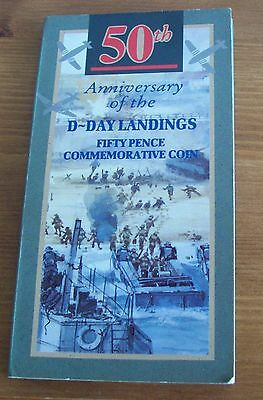 1994 50p pence Coin 50th Anniversary of D-Day Landings in a presentation pack