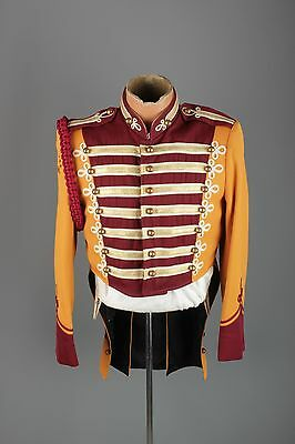 Vtg 60s Marching Band Sgt Peppers Uniform Jacket S 36 1960s Brass Buttons #3165