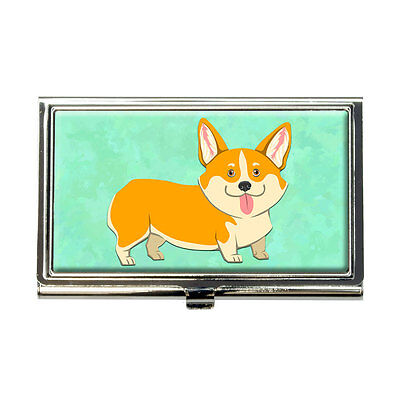 Quirky Corgi Business Credit Card Holder Case