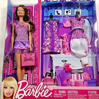 Barbie Fashion and Accessories Gift Set Three Outfits New in Box 2011