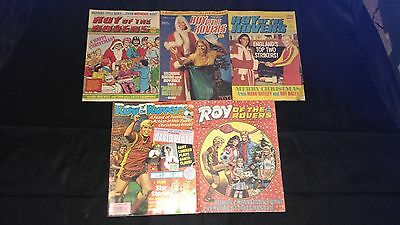 Roy of the Rovers Vintage Christmas Comic's  Small Joblot/Bundle X 5