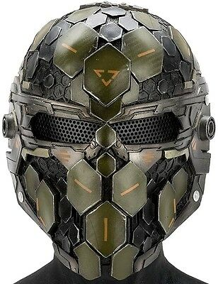 """Army of Two """"Cypher"""" Custom Fiberglass Paintball / Airsoft Mask"""