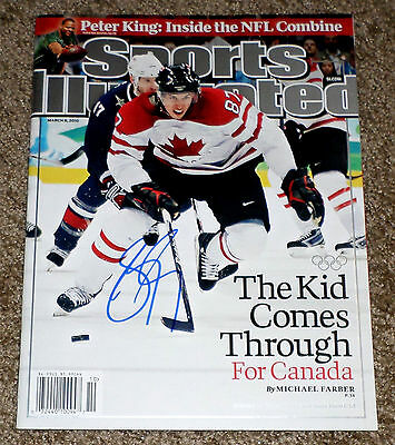 SIDNEY CROSBY Signed Autographed Sports Illustrated Cover March 8, 2010 NO LABEL