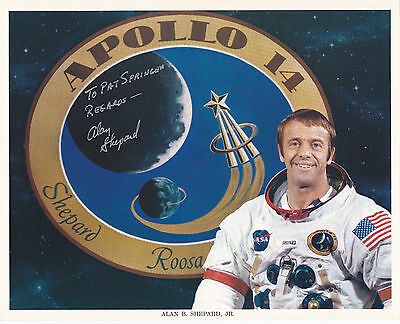 Alan SHEPARD autographed official NASA 8X10 litho  Apollo 14