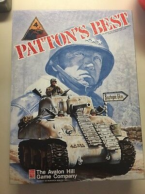 Patton's Best - Sherman Tank Solitaire Game - 1987 Board Game - Avalon Hill Game
