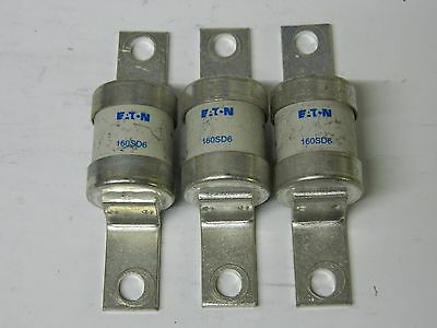 EATON HRC Fuselinks 160SD6 3X 160Amp HRC Fuses