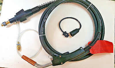 """Profax, Lincoln 400 AMP 15 Feet MIG Gun Torch, Uses 1/16"""" Wire, New/Other, USA"""