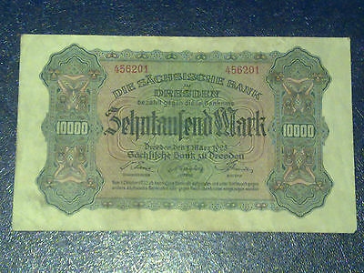 Germany - 10 000 Mark  Banknote 1923- Dresden-Inflation - Very Fine