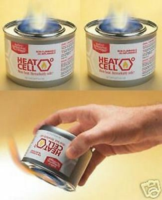 3 Cans  HEAT CELL Eco Fuel Camping/Outdoors/Emergency