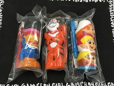 Kellogg's Cereal Toothbrushes - Tucan Sam, Snap Crack & Pop & Tony The Tiger