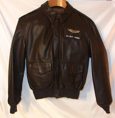 RARE & LN Cooper A-2 Air Force  Leather Flight Jacket, WWII, Sz 44R Pristine