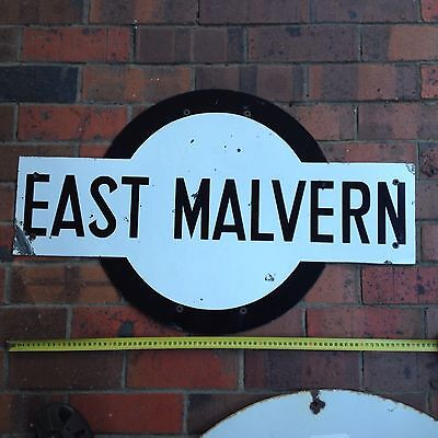 Railway Antique Porcelain Sign East Malvern Station