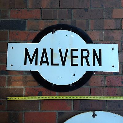 Railway Antique Porcelain Sign Malvern Station